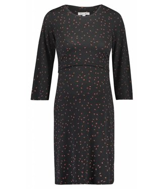 Queen Mum Dress nursing jersey black
