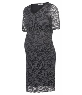 Queen Mum Dress Lace periscope Blue