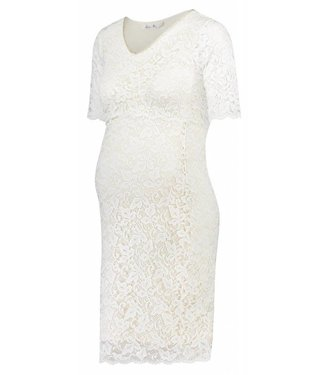 Queen Mum Dress Lace periscope White
