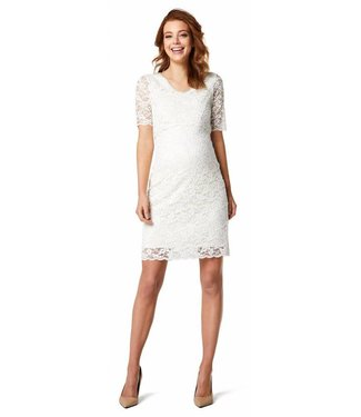 Queen Mum Dress Lace periscope White