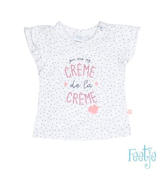 Feetje T-shirt k/m creme Bisou for you