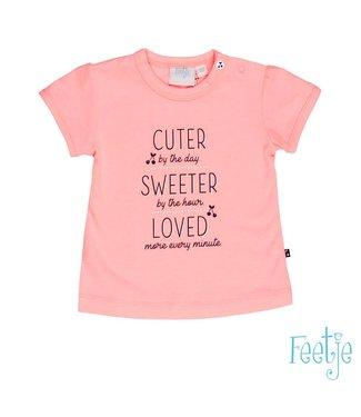 Feetje T-shirt k/m cuter sweeter Cherry sweet