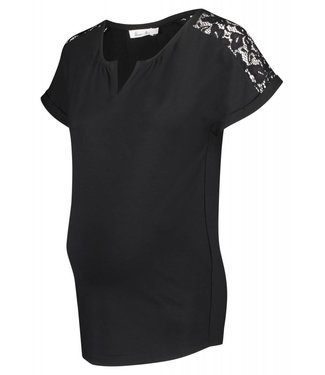 Queen Mum Top Jersey Black