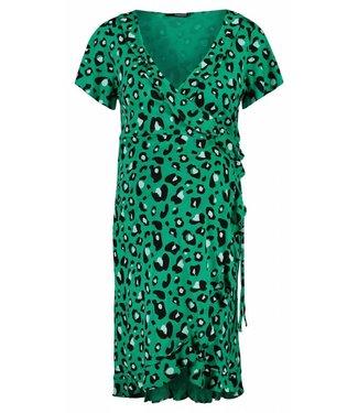 Supermom Dress ss wrap emerald