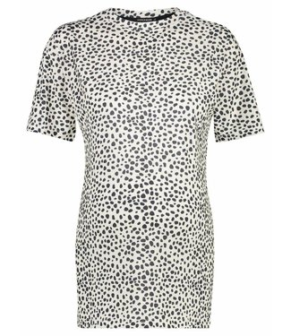 Supermom Tee ss Leopard AOP White