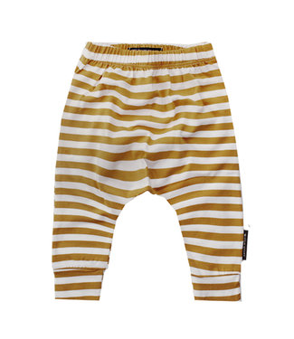 Your wishes Ochre stripes baggy broek
