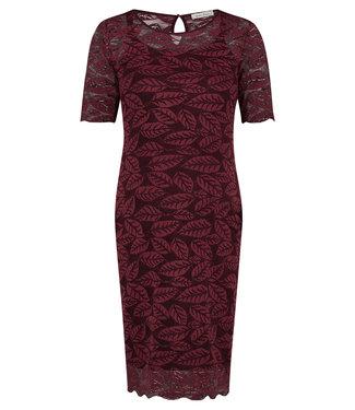 Queen Mum Dress lace ls Cabernet