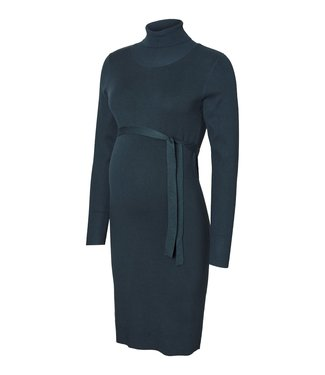 Mama licious MLJACINA L/S KNIT ROLLNECK DRESS NAVY