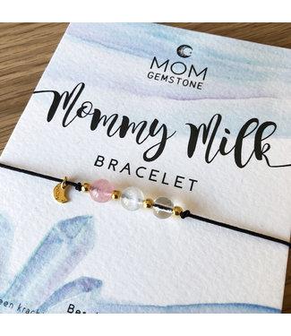 Mom gemstone Mommy Milk bracelet mom gemstone