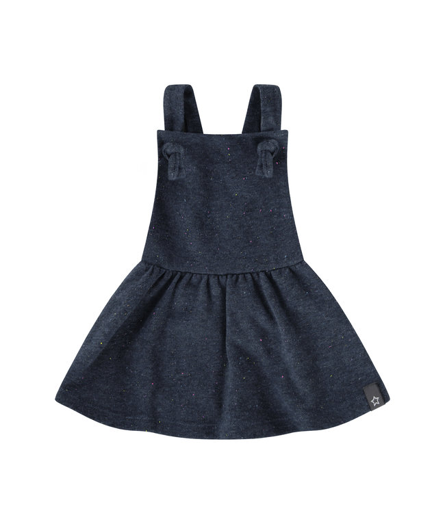 Your wishes Multi Fleck - Blue | Dungaree Dress