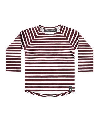 Your wishes Stripes - Wine | Raglan Longsleeve