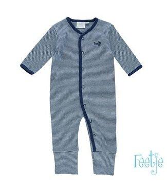 Feetje Pyjama pak streep donker blauw