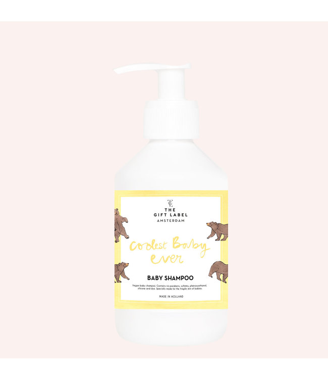 The gift label Baby shampoo Coolest baby ever