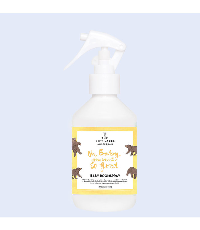 The gift label Baby Roomspray Oh baby you Smell so good