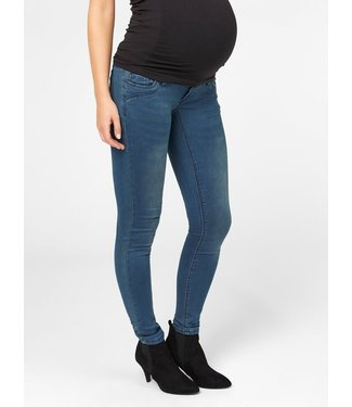 Mama licious MLTORONTO slim jeans Dark blue denim