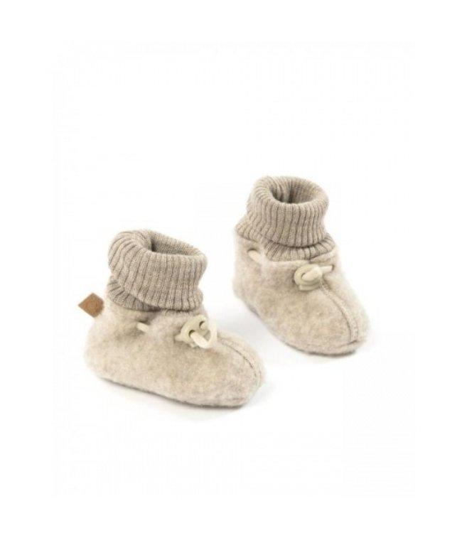 Smallstuff Booties merino wool nature
