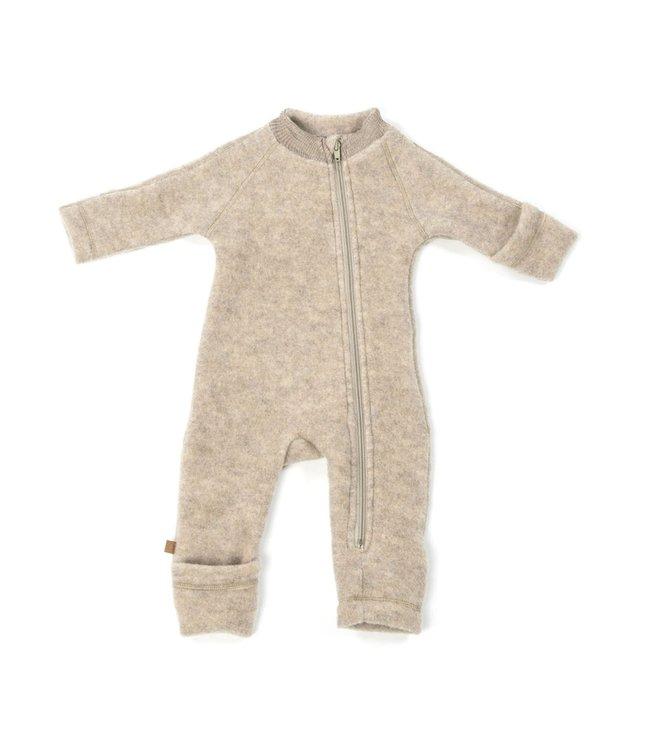 Smallstuff Jumpsuit merino wool zipper nature
