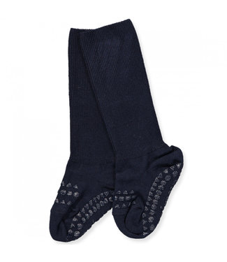 GObabyGO Non slip bambo Socks Dark blue 1-2 jaar