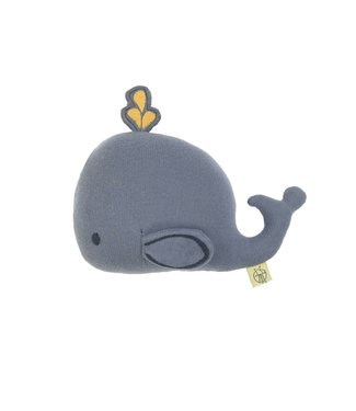 Lassig Knitted toy whale