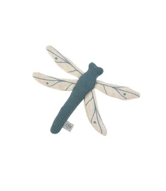 Lassig Knitted toy dragonfly blue