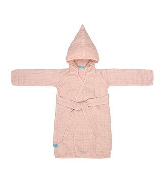 Lassig Muslin bathrobe pink 12-18 maanden
