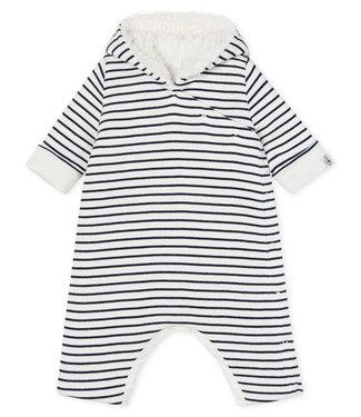 Petit Bateau Gewatteerd babypak blauw/wit
