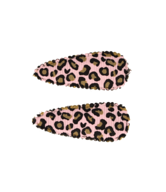 Your little miss Haarspeld Leopard pink 2 stuks