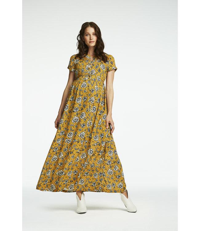 Queen Mum Dress maxi woven nurs ss aop Denver