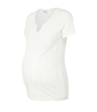 Mama licious MLSABRINE jersey top white