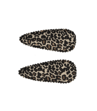 Your little miss Baby haarspeldjes Leopard print tan