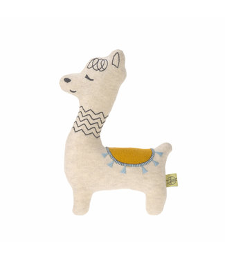 Lassig Knitted toy rattle Glama Lama