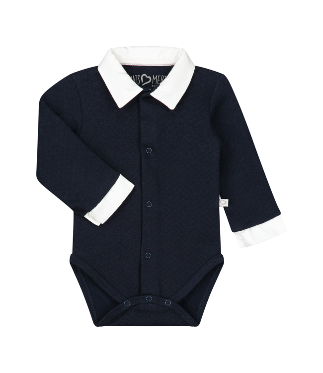 Mats en Merthe Body Long Sleeve Dark Blue met kraag