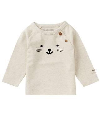 Noppies Baby U T-Shirt LS Arlington Oatmeal