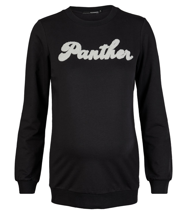 Supermom Sweater ls Black Panther