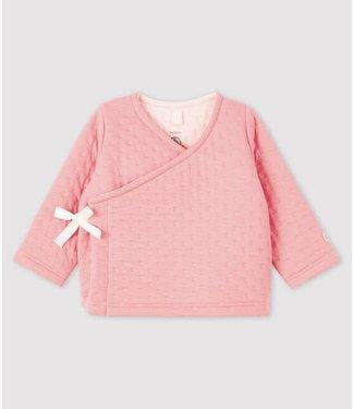 Petit Bateau Overslag vest roze