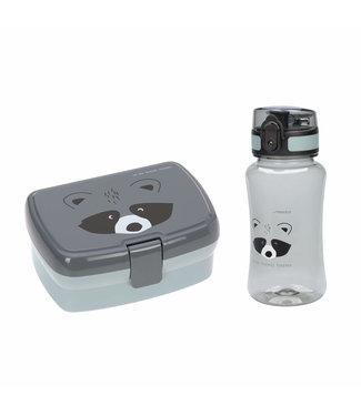 Lassig Lunchbox en beker Racoon