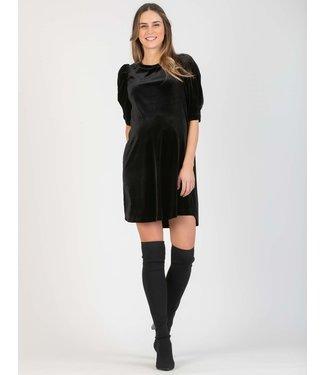 ATTESA Abito dress Velvet zwart