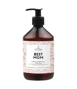 The gift label Best mom Hand soap