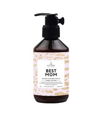 The gift label Best mom Hand lotion