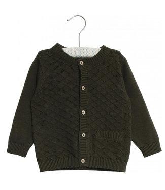 Wheat Cardigan knit Ray dark army