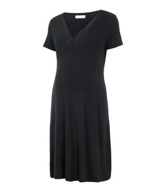 Mama licious MLKylie Tess jersey nightgown black