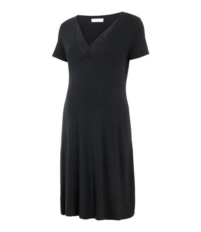 Mamalicious MLKylie Tess jersey nightgown black