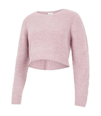 Mama licious MLLINA knit droppen top mauve shadows