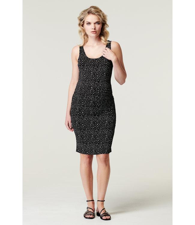 Supermom Dress slv AOP Pebbles Black