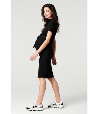 Supermom Dress ss Rib Black