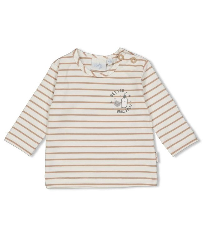 Feetje Longsleeve streep - Mini Cookie