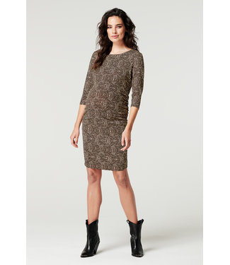 Supermom Dress 3/4 slv  AOP Animal