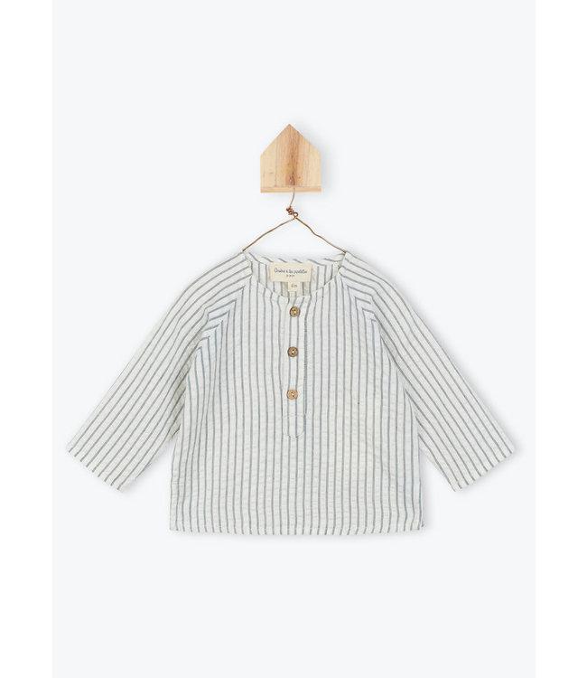 Arsene et les Pipelettes Gestreepte blouse baby