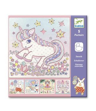 Djeco Sjablonen unicorn
