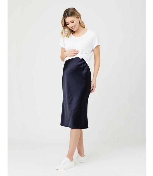 Ripe Lexie Satin Skirt Navy